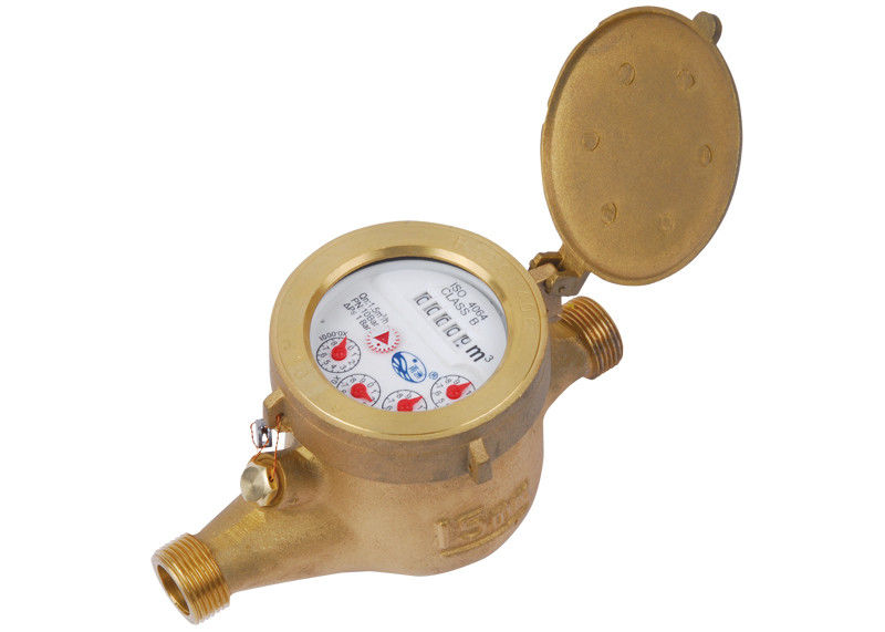 Dry Dial Type Multi Jet Water Meter Brass 5 digits For Household LXSG-15E